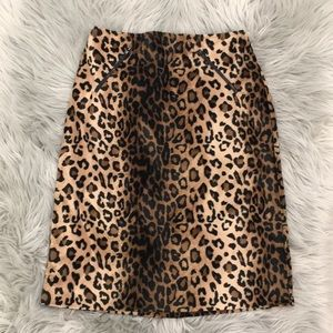 Vintage Betsey Johnson High Waisted Leopard Skirt